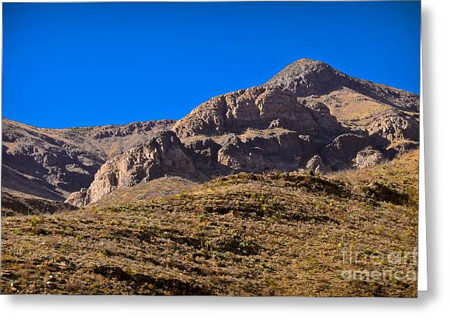 Artistic Vision Greeting Cards - Franklin Mountains Greeting Card by Charles Dobbs
