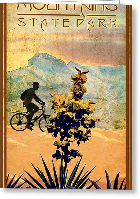 Franklin Digital Greeting Cards - Franklin Mountains State Park Greeting Card by Jim Sanders