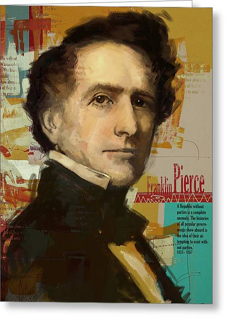 William Henry Harrison Greeting Cards - Franklin Pierce Greeting Card by Corporate Art Task Force