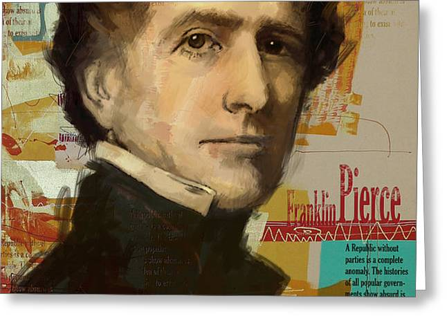 Franklin Pierce Greeting Card by Corporate Art Task Force