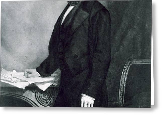 Franklin Pierce Greeting Card by George Healy