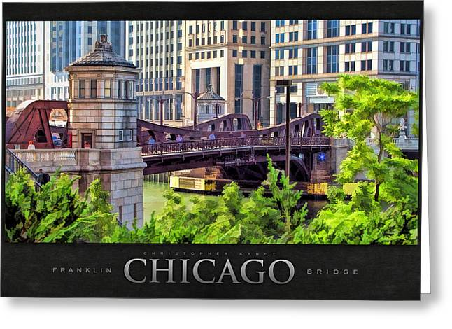 Franklin Paintings Greeting Cards - Franklin Street Bridge Poster Greeting Card by Christopher Arndt