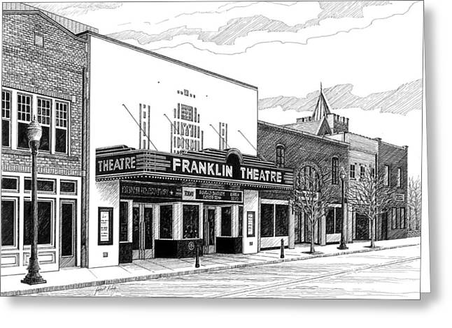 Franklin Theatre In Franklin Tn Greeting Card by Janet King