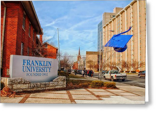 College Street Greeting Cards - Franklin University - Columbus Ohio Greeting Card by Mountain Dreams