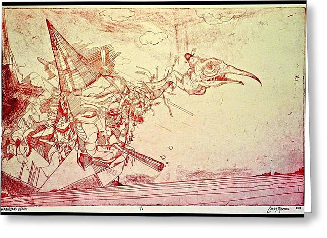 Print Greeting Cards - Franklins Dream Greeting Card by Carey Morton