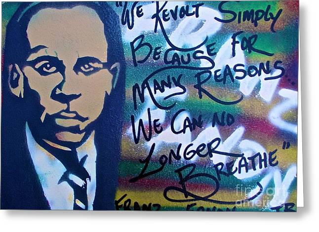 Psychiatry Paintings Greeting Cards - Franz Fanon Greeting Card by Tony B Conscious