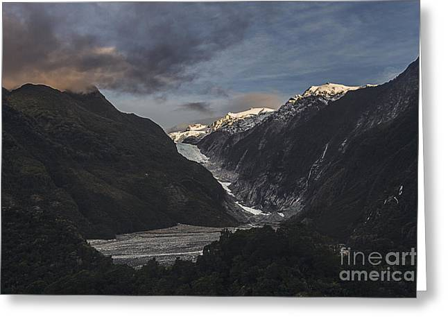 Josef Greeting Cards - Franz Josef Glacier Greeting Card by Justin Paget