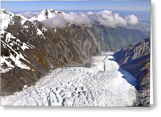 Josef Greeting Cards - Franz Josef glacier Greeting Card by Delphimages Photo Creations