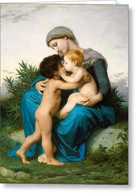 Romanticism Greeting Cards - Fraternal Love Greeting Card by William-Adolphe Bouguereau