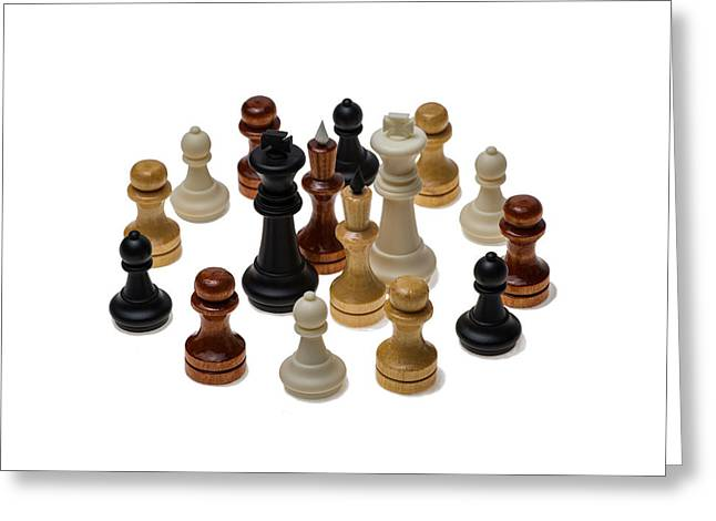 Chess Piece Greeting Cards - Fraternity Or UBUNTU - The Unity Of People Greeting Card by Alexander Senin