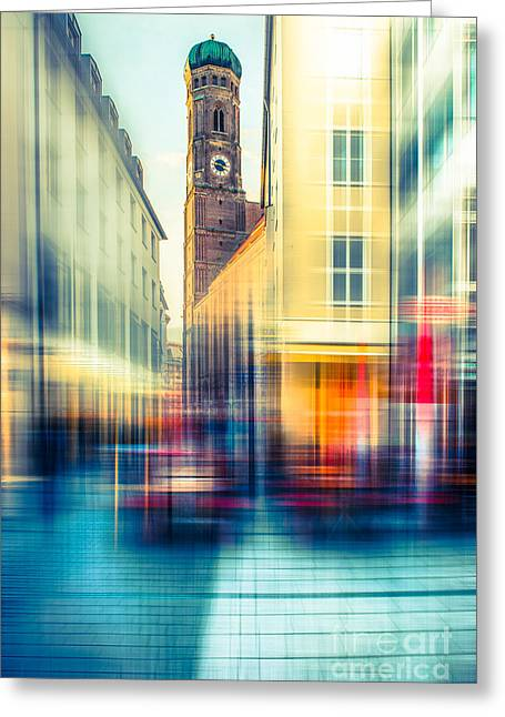 Frauenkirche - Munich V - Vintage Greeting Card by Hannes Cmarits