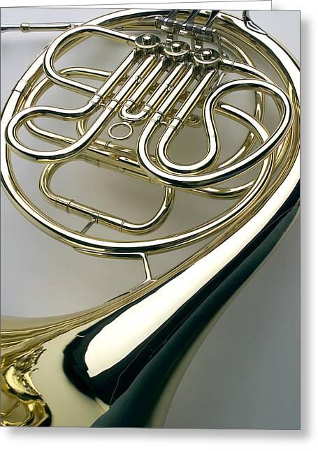 French Horn Greeting Cards - Frech Horn V Greeting Card by Jon Neidert