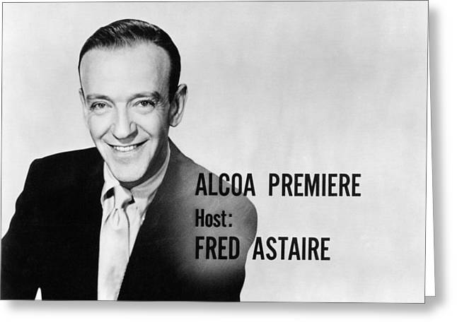Alcoa Greeting Cards - Fred Astaire in Alcoa Premiere  Greeting Card by Silver Screen