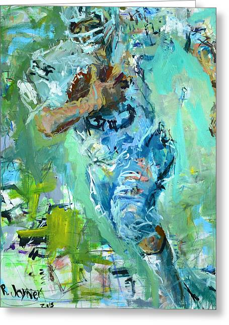 American Football Paintings Greeting Cards - Fred Biletnikoff Greeting Card by Robert Joyner