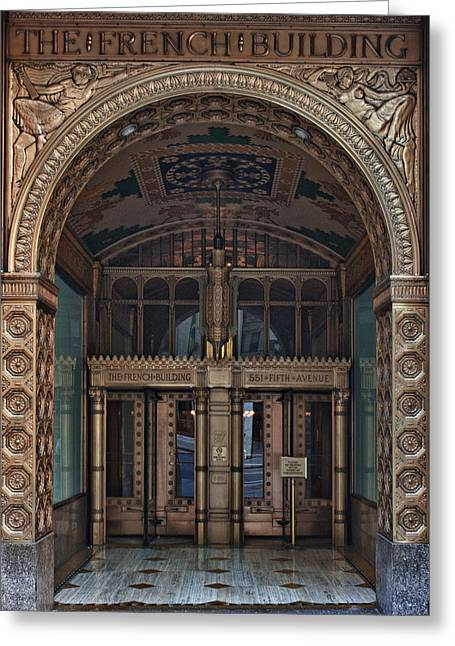 French Doors Greeting Cards - Fred F. French Building Fifth Avenue Greeting Card by Steve Rosenbach