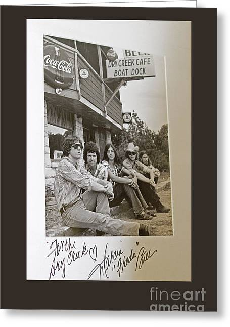 Freda And The Firedogs - Autographed Vintage Photo Greeting Card by John Stephens