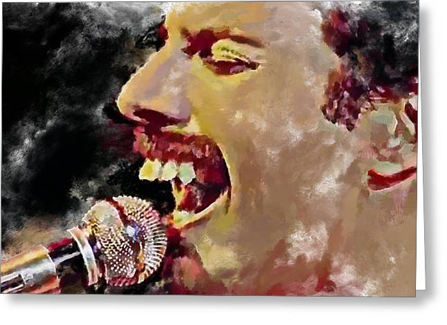 Recently Sold -  - Pop Singer Greeting Cards - Freddie Mercury queen 4 Greeting Card by Yury Malkov