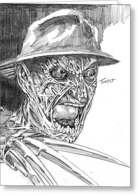 Freddy Kruger Greeting Cards - Freddy Greeting Card by Christopher Torres