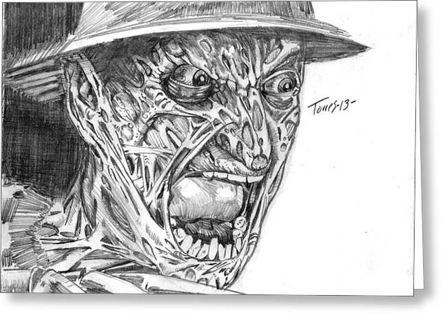 Freddy Greeting Card by Christopher Torres