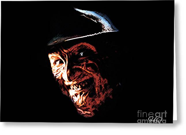 Freddy Kruger Greeting Cards - Freddy Kruger Greeting Card by Horacio Chaverri