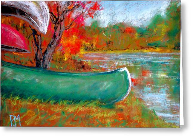 Canoe Pastels Greeting Cards - Freddys Canoe Greeting Card by Pete Maier