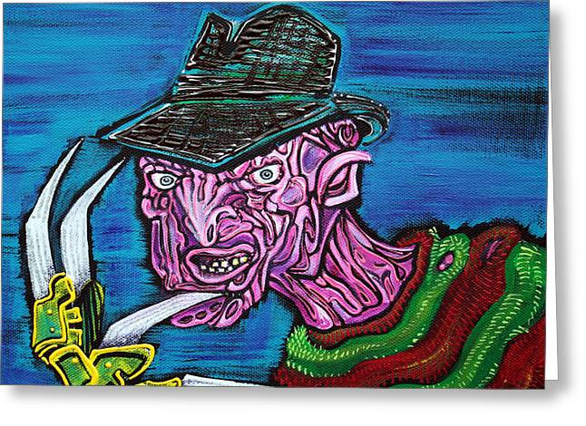 Horror Movies Greeting Cards - Freddys Coming For You Greeting Card by Laura Barbosa