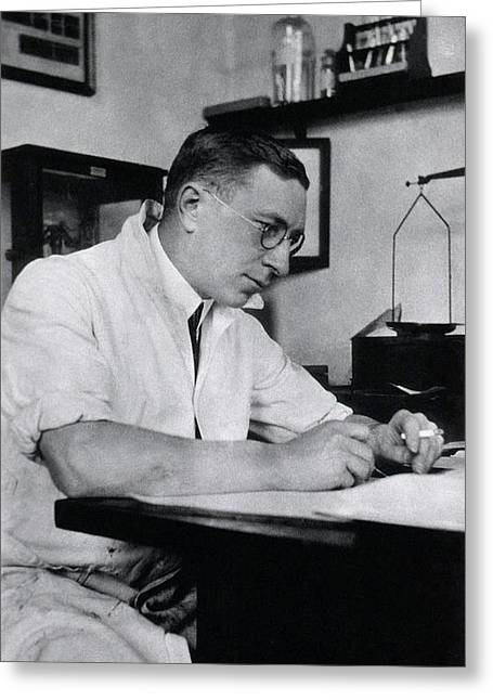 Frederick Banting Greeting Card by National Library Of Medicine