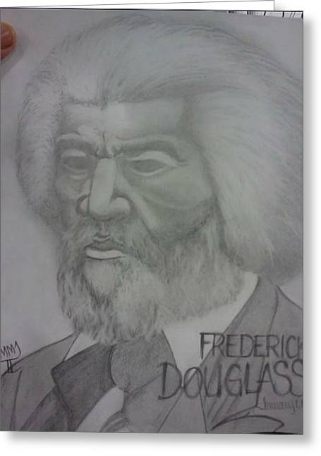 Frederick Drawings Greeting Cards - Frederick Douglas  Greeting Card by Mitchelle Jones II