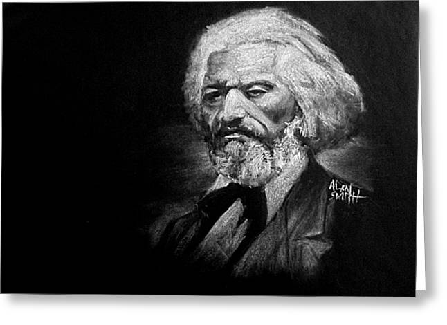 Frederick Drawings Greeting Cards - Frederick Douglass Greeting Card by Alan Smith
