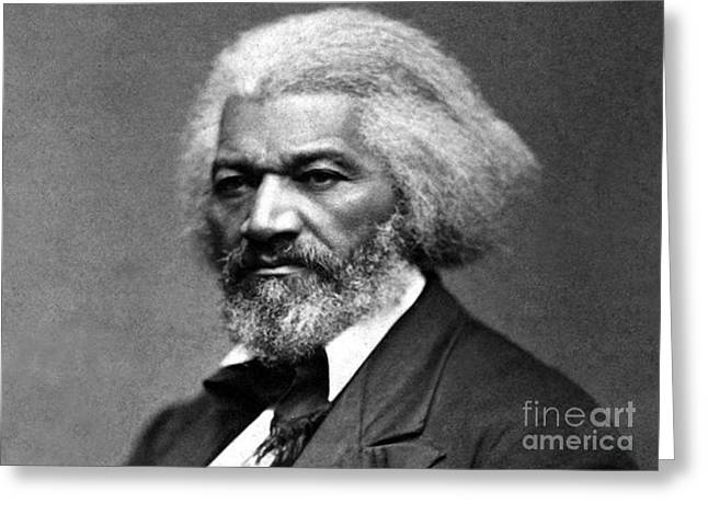 Frederick Douglass Greeting Cards - Frederick Douglass Born Slave circa 1879 Greeting Card by David Call