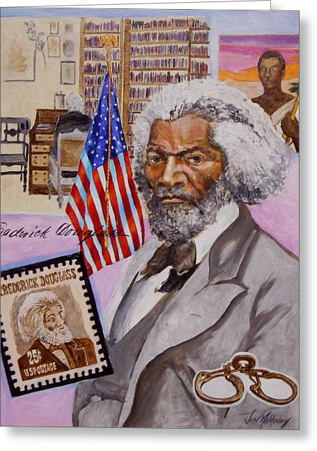 Frederick Douglass Paintings Greeting Cards - Frederick Douglass Greeting Card by Jan Mecklenburg