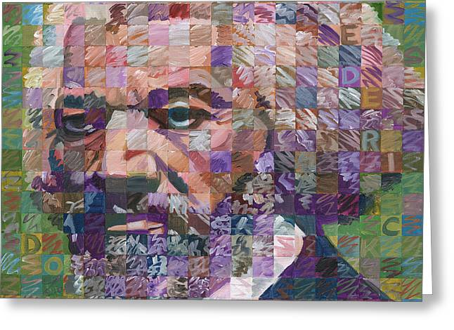 Abolitionist Paintings Greeting Cards - Frederick Douglass Greeting Card by Randal Huiskens