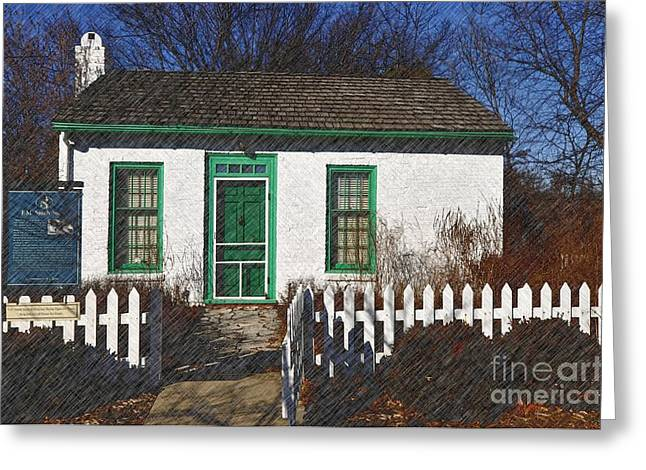 Pioneer Homes Digital Greeting Cards - Frederick M Smith Study Greeting Card by Liane Wright