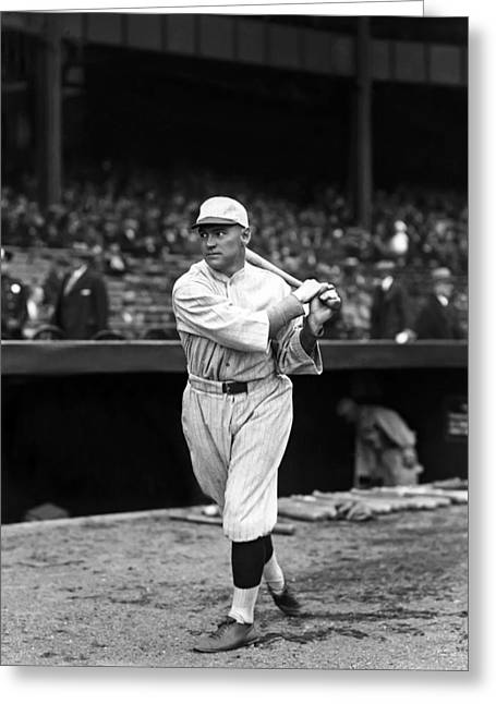 Boston Red Sox Greeting Cards - Frederick O. Fred Bratchi Greeting Card by Retro Images Archive