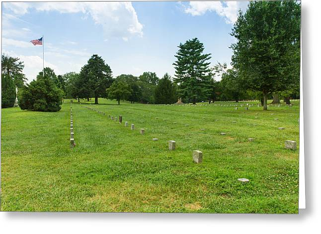 Fredricksburg Greeting Cards - Fredericksburg National Cemetery Greeting Card by John Bailey
