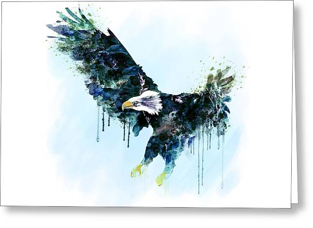 Wildlife Digital Art Greeting Cards - Free and Deadly watercolor Greeting Card by Marian Voicu