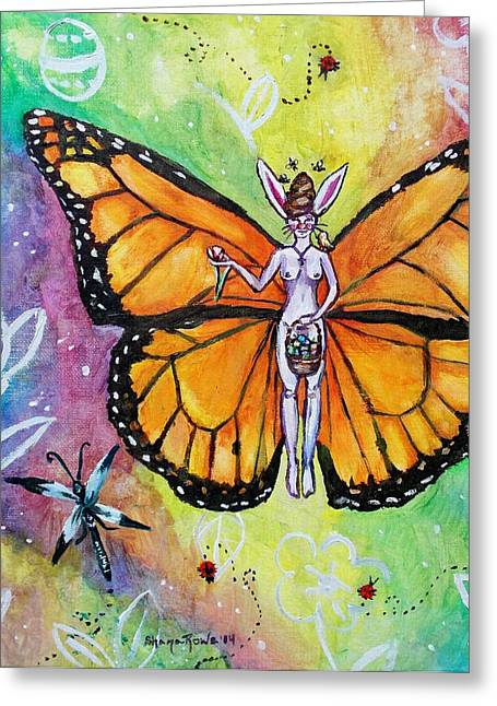Antenna Paintings Greeting Cards - Free as Easter Faith Greeting Card by Shana Rowe