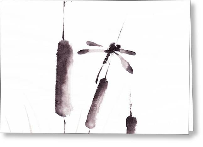 Free As The Dragonflies Greeting Card by Oiyee  At Oystudio