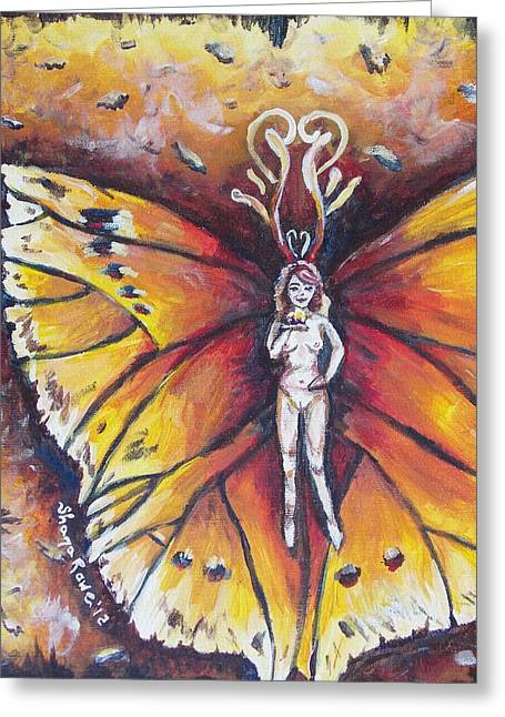 Antenna Paintings Greeting Cards - Free as the Flame Greeting Card by Shana Rowe