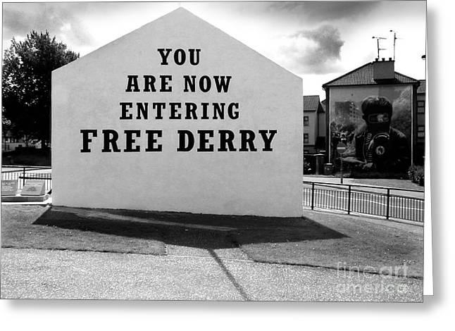 Republican Greeting Cards - Free Derry Corner Greeting Card by Nina Ficur Feenan