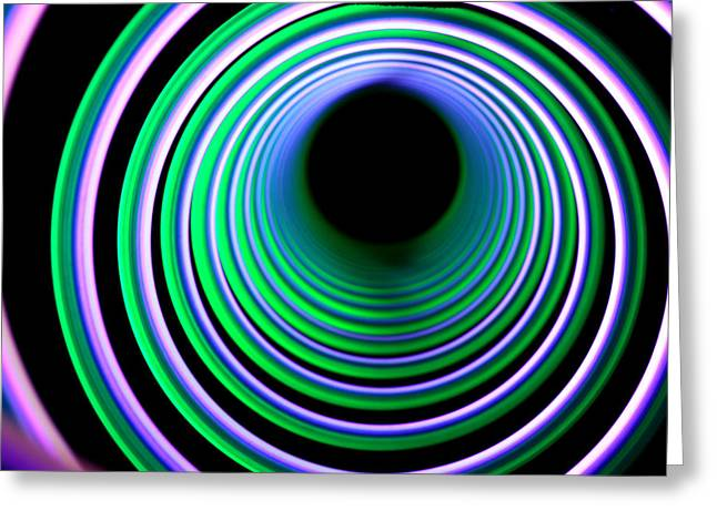 Energy Vortex Greeting Cards - Free Falling Greeting Card by Dazzle Zazz