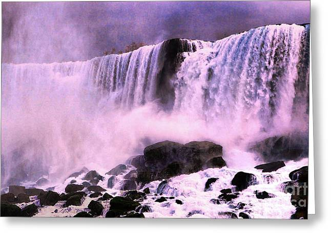 Photographic Art For Sale Greeting Cards - Free Falls Oil effect image Greeting Card by Tom Prendergast