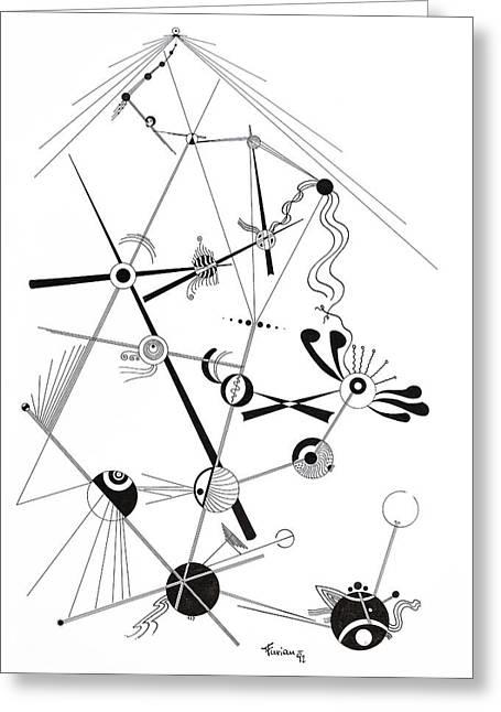 Macrocosm Greeting Cards - Free Lines 5 Greeting Card by Peter Hermes Furian