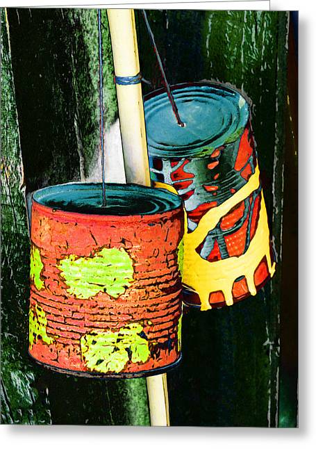 Bamboo Fence Greeting Cards - Free Local Calls Greeting Card by Steve Taylor