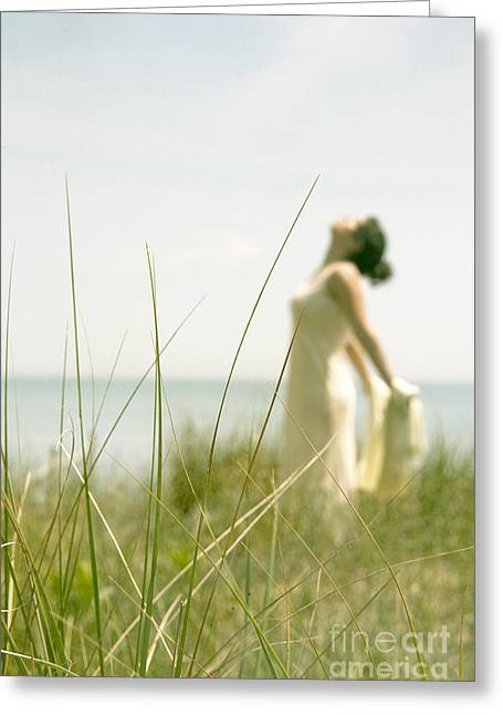 Lady In Lake Greeting Cards - Free Greeting Card by Margie Hurwich