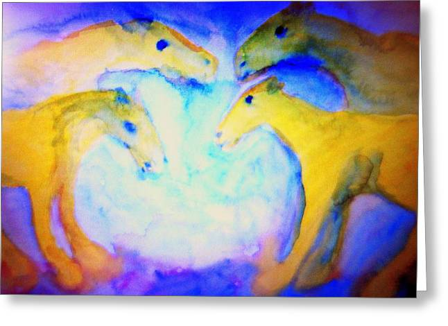 Temperament Paintings Greeting Cards - Free our angels Greeting Card by Hilde Widerberg