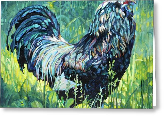 FREE RANGE Greeting Card by Patricia A Griffin
