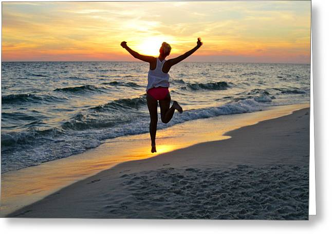 Panama City Beach Greeting Cards - Free Spirit Greeting Card by Bailey Barry
