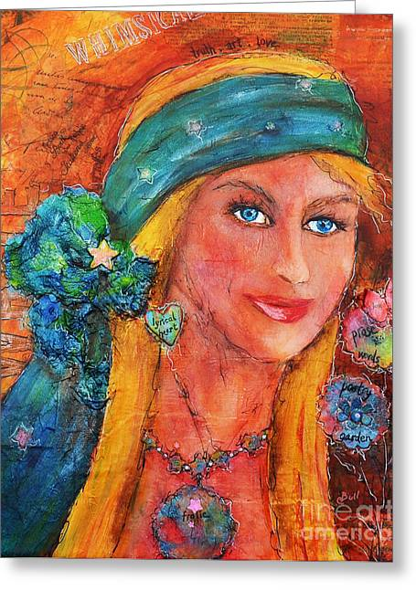 Cbull Greeting Cards - Free Spirit Greeting Card by Claire Bull