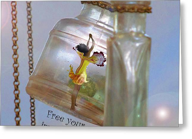 Free Your Imagination Greeting Card by Bobbie S Richardson